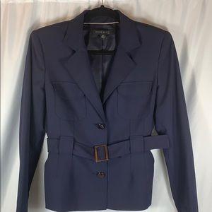 Anne Klein Belted Navy Jacket